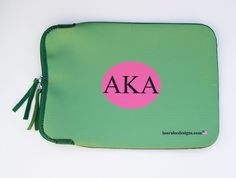 LLD's #AKA laptop or Ipad case! #green #pink #Alphakappaalpha