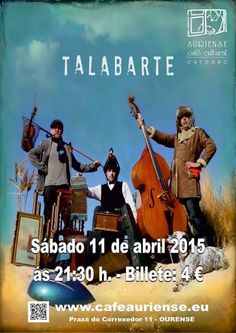 Talabarte en Café Cultural Auriense, Ourense  concerto concierto music música