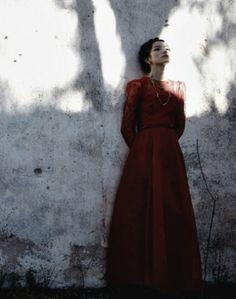 Fei Fei Sun in Valentino S/S 2012 by Deborah Turbeville