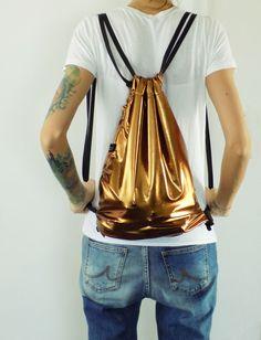 Schicker Rucksack in Kupfer / copper bag by isoncaDesign via DaWanda.com