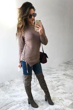 Sweet Serenade Sweater: Mocha