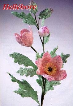 Diagrama ganchillo flores