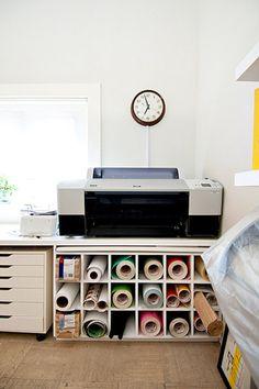 Artist's home studio via Apartment Therapy