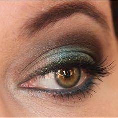 Teal & Brown for Hazel Eyes   Idea Gallery   Makeup Geek found on Polyvore