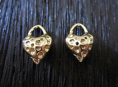 Gold Bronze Double Sided Textured Artisan by VDIJewelryFindings, $6.51