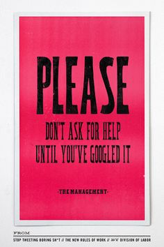 The New Rules of Work, by creative agency Division of Labor http://www.chroniclebooks.com/stop-tweeting-boring-sh-t.html