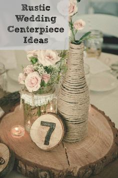Centerpiece ideas for a rustic or country wedding!