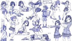 (References) How to Draw Uniforms - Sailor Unifiorms and Gakurans Art Poses, Drawing Poses, Manga Drawing, Manga Kawaii, Manga Anime, Anime Art, Animation Reference, Art Reference Poses, Art Sketches