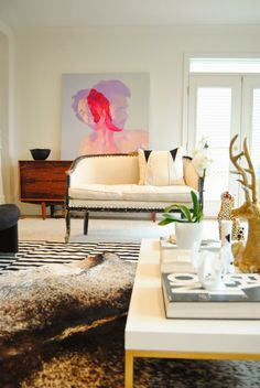 Bijou and Boheme: living room featuring artwork by @jen Manning
