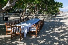Gourmet Group Dining on the beach in Puerto Plata at Casa Colonial.  Yes please!