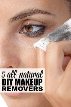 DIY Face Masks  : 5 ALL NATURAL DIY MAKEUP REMOVERS