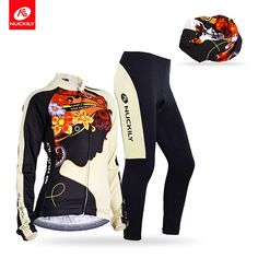399.90$  Buy now - http://alis5g.shopchina.info/go.php?t=32809029055 - Nuckily summer Long Sleeve Elastic Fabric Quick Dry Ciclismo Woman Cycling Jersey and tights + head scarf suit GC002GD002+PG07  #aliexpressideas