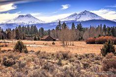 Three Sisters mountain peaks in the Cascade Mountain Range. Sisters, Oregon --------- @alicedoggett