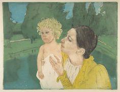 Mary Cassatt, (American, 1844–1926). By the Pond, ca.1896. The Metropolitan Museum of Art, New York. Gift of Mrs. Gardner Cassatt, 1960 #kids
