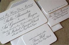 Letterpress Wedding Invitations | Page Stationery | stationary | Stella + Ari