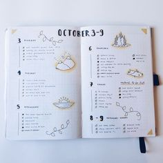 Bullet journal weekly with pretty doodles. Make your bujo pretty :)