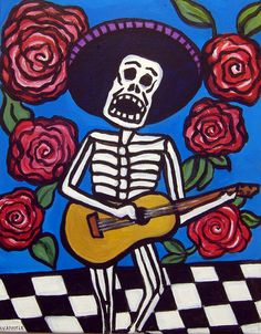 ORIGINAL PAINTINGMexican Folk Art  Day of the by AVApostleDesign, $150.00