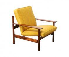 Sven Ivar Dysthe Rosewood & Leather Lounge Chair for Dokka Mobler