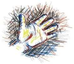 always drawing hands, by LK