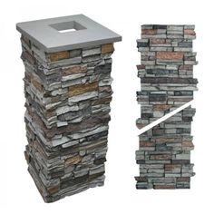 "Alpi Stone - Post / Column Wrap - Gray - 36"" x 15"" x 15"""