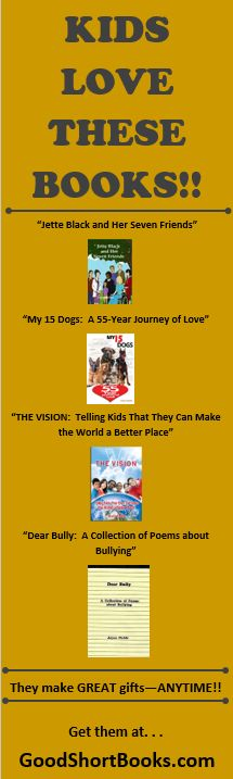 """Get these four books for all the kids in your family--your own children, your grandchildren, nieces, nephews, cousins, and godkids!! Ages 8 to 16. They make great gifts ANYTIME--Christmas, birthdays, or """"just because""""!! If they are too young to read, children love it when a book is read TO them!"""