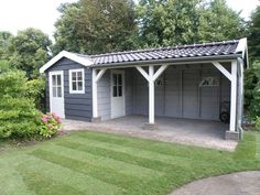 backyard studio is usually a shed or granny flat you put to good purpose by building or renovating it to serve as a studio. A backyard studio can be a Backyard Studio, Backyard Sheds, Outdoor Sheds, Backyard Patio, Backyard Landscaping, Outdoor Buildings, Garden Buildings, Outdoor Structures, Barbacoa Jardin
