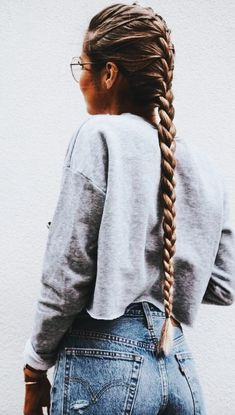 This post contains the most amazing braided hairstyles. These braids will make your hair looks fabulous, attractive and most of all charming Grow Long Hair, Braids For Long Hair, Hair Styles For Long Hair For School, Very Long Hair, Pretty Hairstyles, Braided Hairstyles, Fringe Hairstyle, Black Hairstyle, Easy Hairstyle