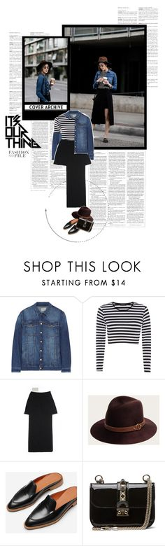 """""""Let's play"""" by solespejismo on Polyvore featuring Current/Elliott, Rosetta Getty, Frye, Everlane and Valentino"""