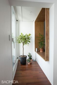 [마포강변힐스테이트] 미니멀라이프를 실천하는 싱글하우스 24평인테리어 by 바오미다 : 네이버 블로그 Interior Balcony, Apartment Balcony Decorating, Interior Garden, Apartment Interior, Room Interior, Interior Decorating, Interior Design, Veranda Interiors, Space Interiors