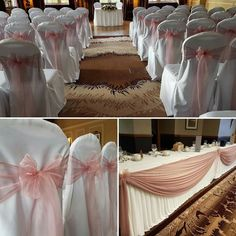 Blush Pink wedding ceremony and reception decor at Dunblane Hydro #wedding #weddingtrends