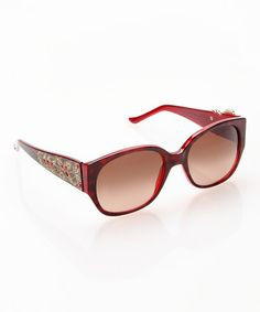 Take a look at this Topaz & Ruby Rectangle Sunglasses by Judith Leiber on #zulily today!