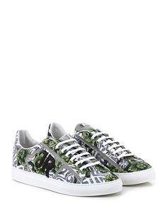 JOHN RICHMOND - Sneakers - Uomo - Sneaker in pelle stampata a fantasia con suola in gomma, tacco 30. - FLOWER\MULTI - € 270.00