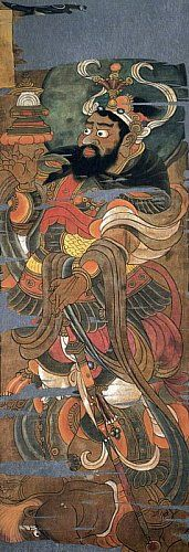 Century Painting from Hidden Library Cave in Dunhuang, China Chinese Drawings, Chinese Art, Chinese Style, Japan Painting, China Painting, Japanese Buddhism, Japanese Art, Ajanta Caves, Dunhuang