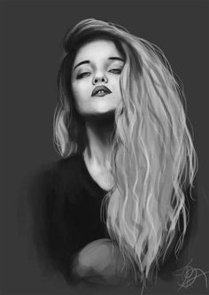 Sky ferreira drawing (on black paper with pastels)