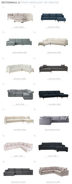 58 Kid Friendly Sectionals – Emily Henderson Kid Friendly Sectionals – Stain Repellant or Treated Cheap Living Room Sets, Living Room On A Budget, Living Room Remodel, Home Living Room, Living Room Furniture, Living Room Decor, Rustic Furniture, Antique Furniture, Furniture Ideas