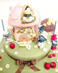 Cake pitufos