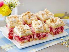 Mandelkuchen mit Baiser und Himbeersahne Rezept | LECKER