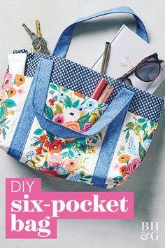Bag Pattern Free, Bag Patterns To Sew, Tote Pattern, Crochet Blanket Patterns, Crochet Pattern, Fabric Tote Bags, Diy Tote Bag, Diy Fabric Purses, Sew Bags