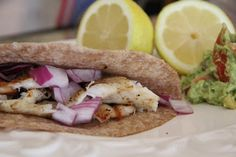 Don't turn your nose up yet! Fish tacos sound funny but they're really, really yummy....