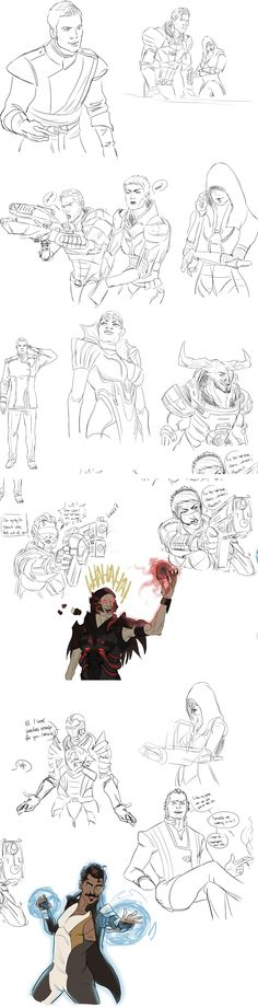 The more Dragon Age/Mass Effect crossover artwork I see, the more I want. WHAT A VICIOUS, AMAZING CYCLE.