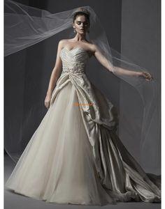 Srdíčko Tyl Nabírání Svatební šaty 2015