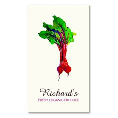 Beets Vegetable Business Card Template