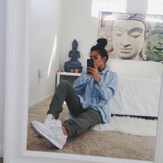 Baggy clothes The Effective Pictures We Offer You About dope outfits sneakers A quality picture can Tomboy Fashion, Moda Fashion, Fashion Killa, Urban Fashion, Style Fashion, Fashion Beauty, Oufits Casual, Casual Outfits, Dope Outfits