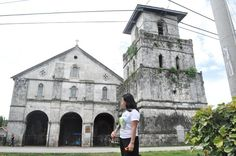 the famous Baclayon church in Tagbilaran Bohol (june 2011)