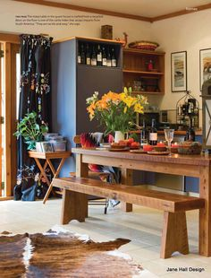 Eclectic style kitchen in a great loft.