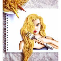 Kristina Webb @colour_me_creative Spaghetti hair dr...Instagram photo | Websta (Webstagram)