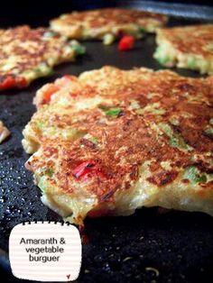 Amaranth & vegetables burguer/burguer de amaranto y verduras