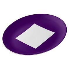 Art Deco Dinner Plate by Janz Purple