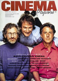 This shot without a hook on Robin's lips: Cinema Papers March 1992 Robin Williams, Maisie Williams, Like A Shooting Star, All Robins, Dustin Hoffman, Little Prayer, You Make Me Laugh, Steven Spielberg, I Miss Him