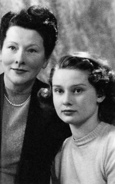 Audrey and her mother, Baroness Ella Van Heemstra, c. 1946.